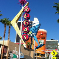 Colorful even during the day, the neon lights of Fremont East